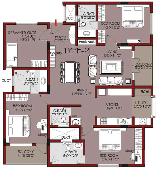 Habitat ventures habitat mayflower featured property for 4 bedroom luxury apartment floor plans